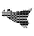 halftone dot sicilia map vector image vector image