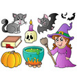 halloween images collection vector image