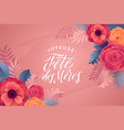 happy mother s day floral greeting card anemone vector image