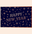 happy new year greeting card new year vector image