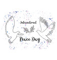 holiday greetings international peace vector image