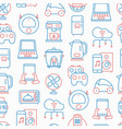 internet of things seamless pattern vector image