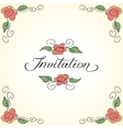 Invitation card with floral pattern vector image vector image