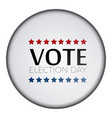 isolated button vote vector image