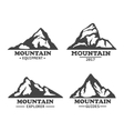 Isolated mountains logo or signs vector image vector image
