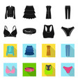 isolated object of woman and clothing sign vector image