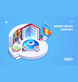 isometric view on digital school or university vector image