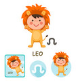 leo collection zodiac signs vector image