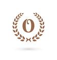 Letter O laurel wreath logo icon design template vector image vector image