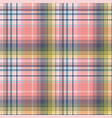 light color check plaid pixel seamless pattern vector image vector image