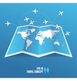 map icon and airplane vector image