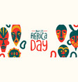 may 25 africa day banner tribal african mask vector image vector image