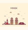 minsk skyline belarus a linear vector image