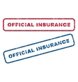 Official Insurance Rubber Stamps vector image vector image
