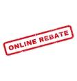 Online Rebate Rubber Stamp vector image vector image
