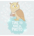 owl and camera vector image vector image