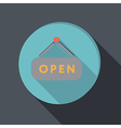 paper flat icon open label sign vector image
