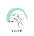 plasterer works vector image vector image