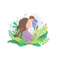 portrait happy loving mother and her baby vector image