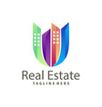 real estate building construction logo and icon vector image