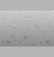 realistic transparent drops on a transparent vector image