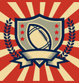 retro american football sport emblem vector image vector image