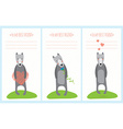 romantic greeting card with cute dogs vector image vector image