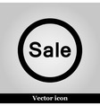 Sale icon on grey background vector image vector image