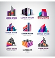 set of colorful modern office company vector image vector image