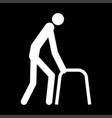 sick man white color icon vector image vector image