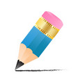 simple small pencil icon with drawn line isolated vector image vector image