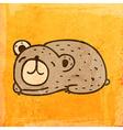 Sleeping Bear Cartoon vector image