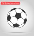 Soccer ball icon flat design