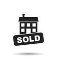 sold house icon in flat style on white background vector image vector image