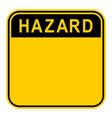 sticker hazard safety sign vector image vector image