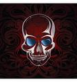 Stylised skull vector image vector image