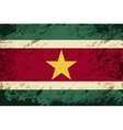 Surinamese flag Grunge background vector image vector image