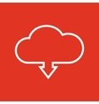 The download to cloud icon Download symbol Flat vector image vector image