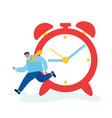 time as valuable life resource concept hurrying vector image