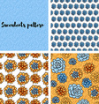 Trend of succulents patterns and stripes vector image vector image