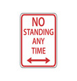 usa traffic road signdo not stand and stop vector image vector image