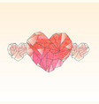 valentine card template with watercolor crystal vector image vector image