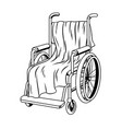 wheelchair with plaid coloring book vector image vector image