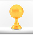 winner volleyball cup award golden trophy logo vector image