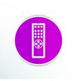 Remote control tv icon isolated media vector image