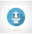 Abstract fountain blue round icon
