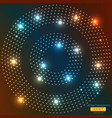abstract light circle backround vector image vector image