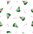 abstract pink and green christmas trees and candy vector image vector image