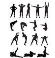aerobics girls vector image