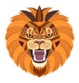 angry lion head logo decorative emblem vector image vector image
